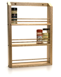 Oak classic single shelf rack